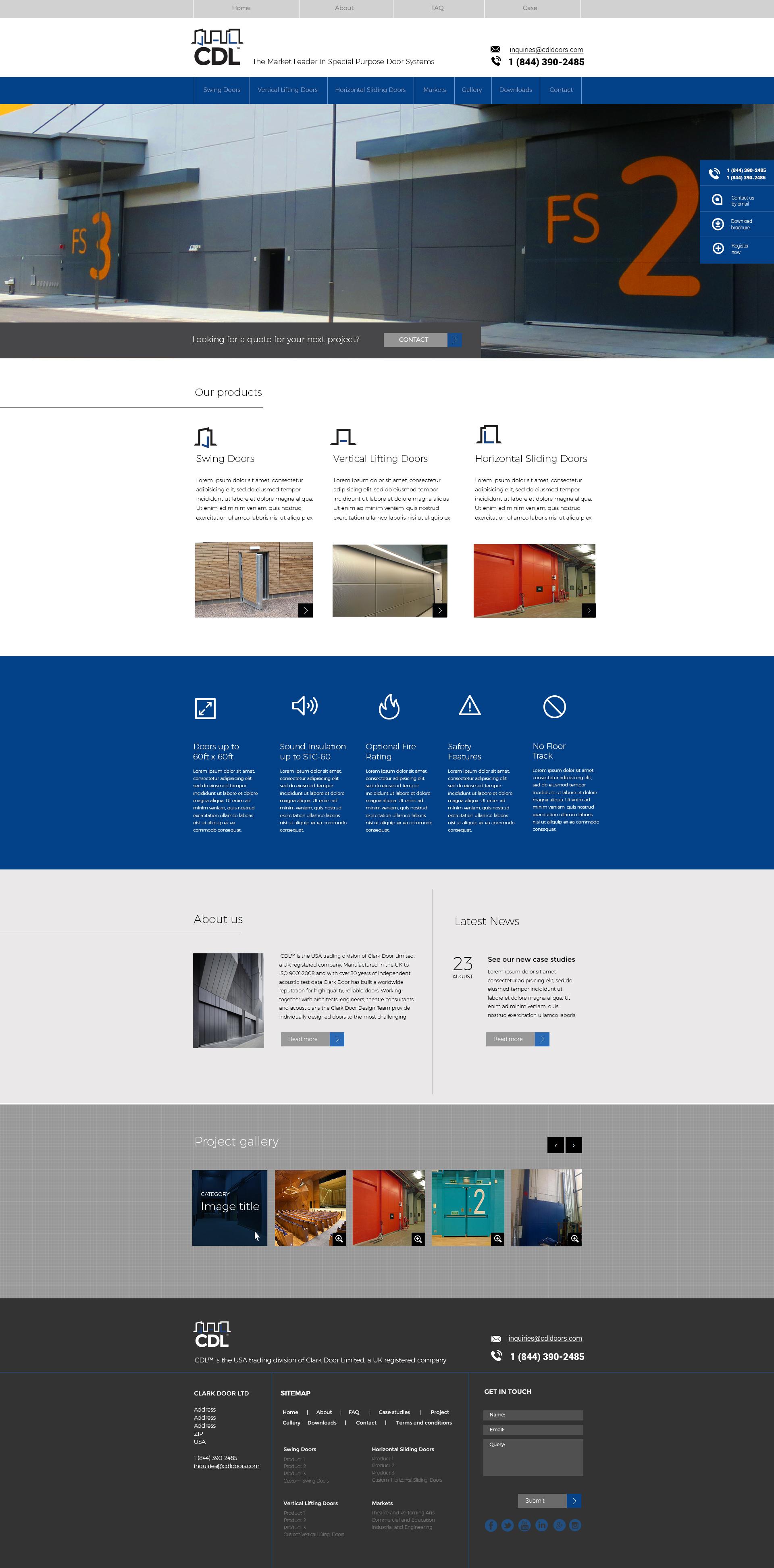 Clark Door website