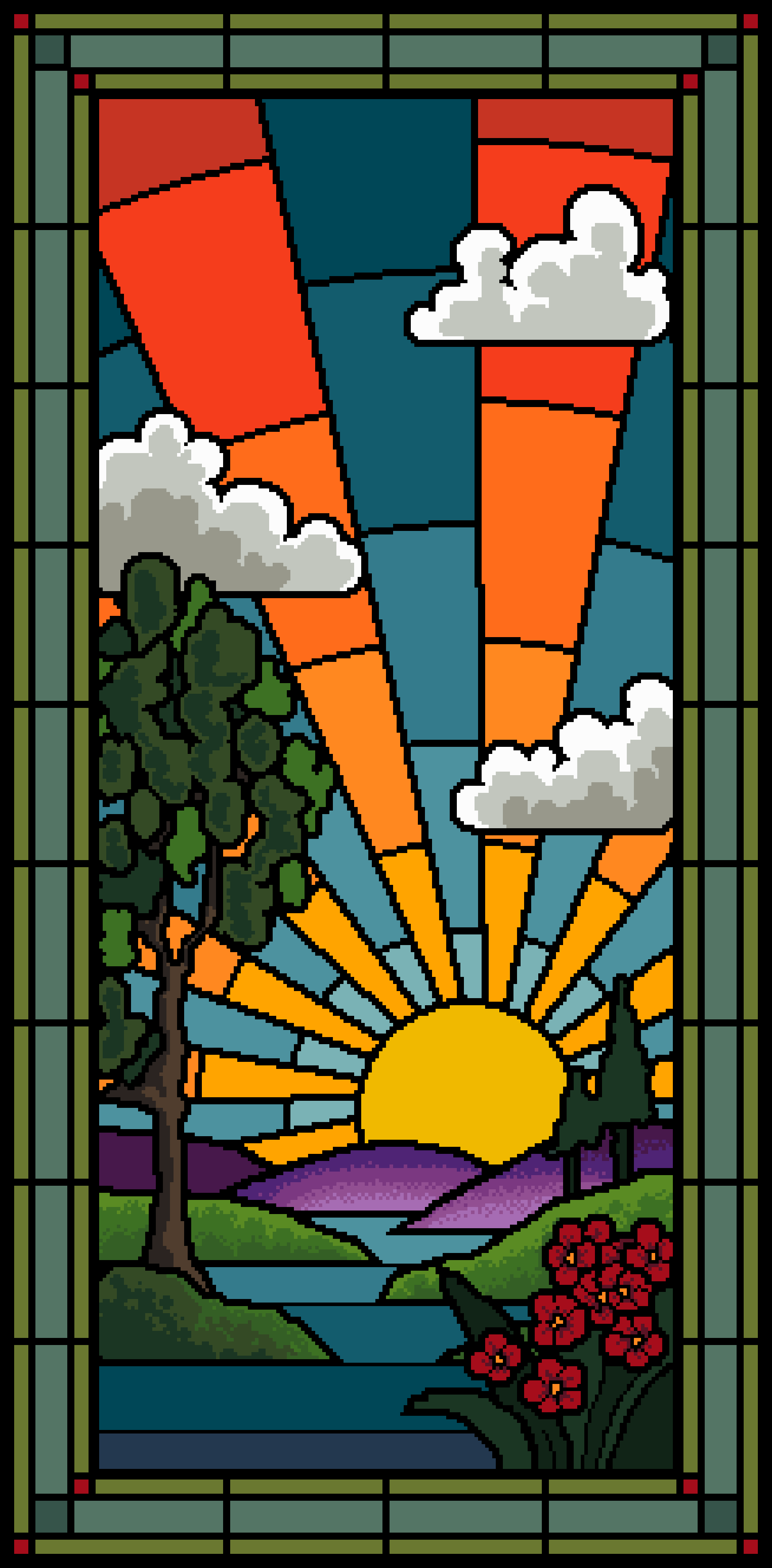Sunrise stained glass - vivienne powers