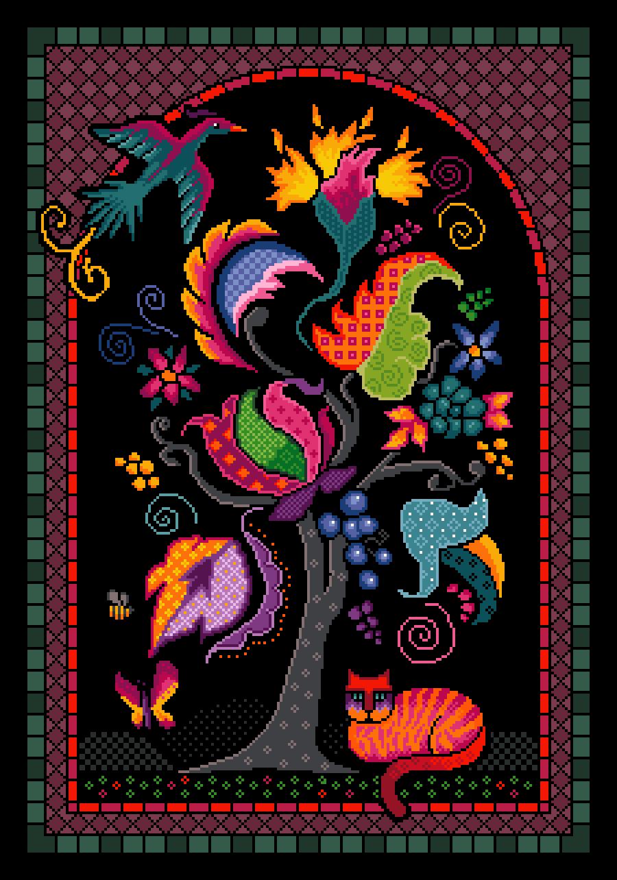 Tree of Life cat - Vivienne Powers